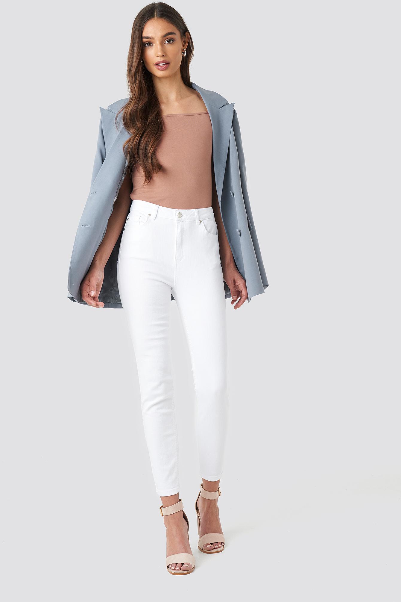 trendyol -  Milla High Waist Jeans - White