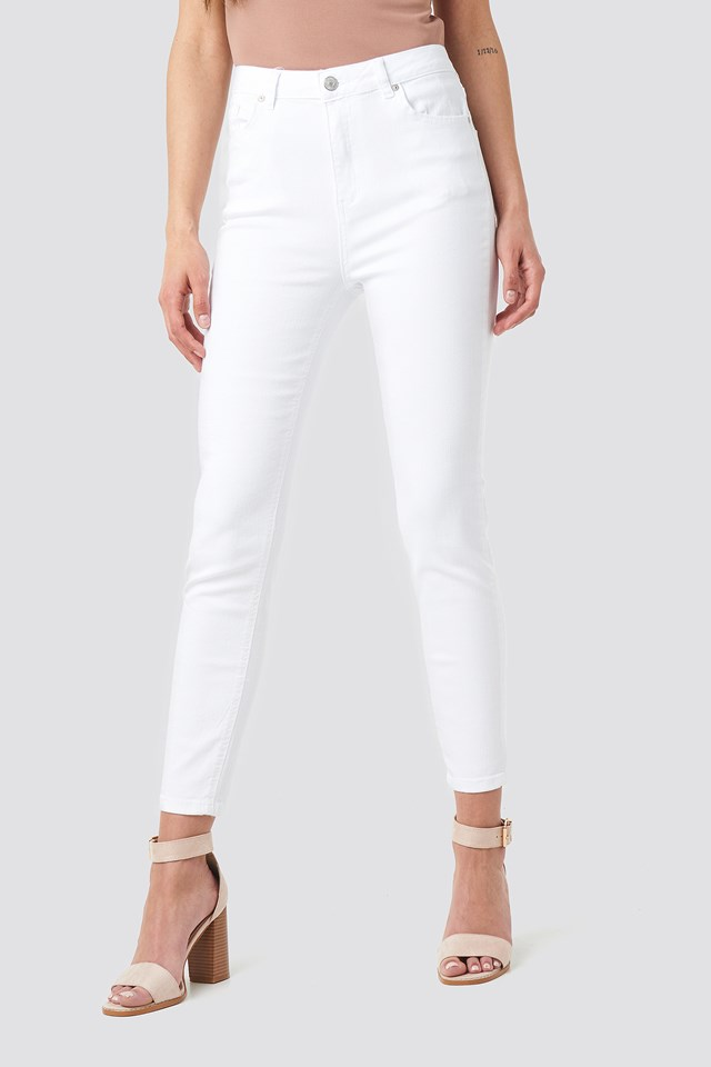 Milla High Waist Jeans White
