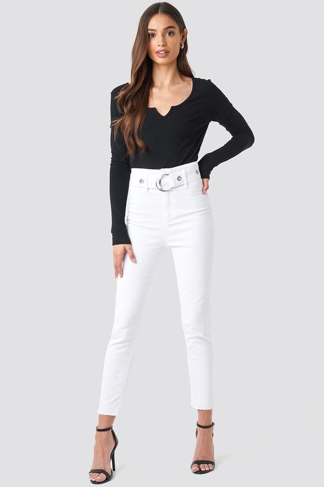 Milla High Waist Slim Fit Jeans NA-KD.COM