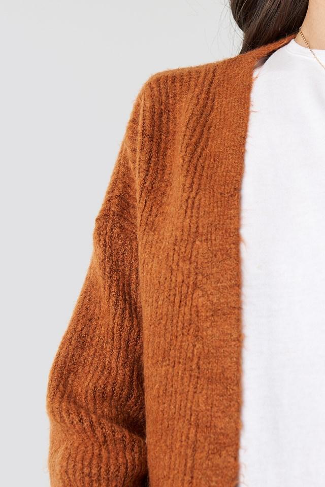 Milla Knitted Cardigan Tobacco