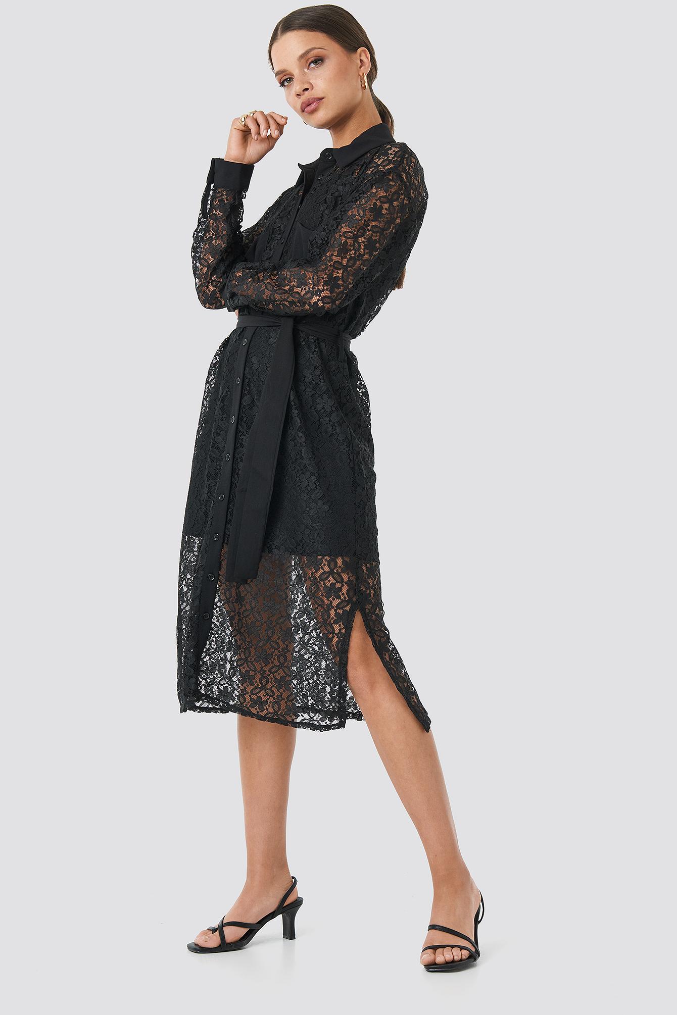 Milla Lace Midi Dress NA-KD.COM