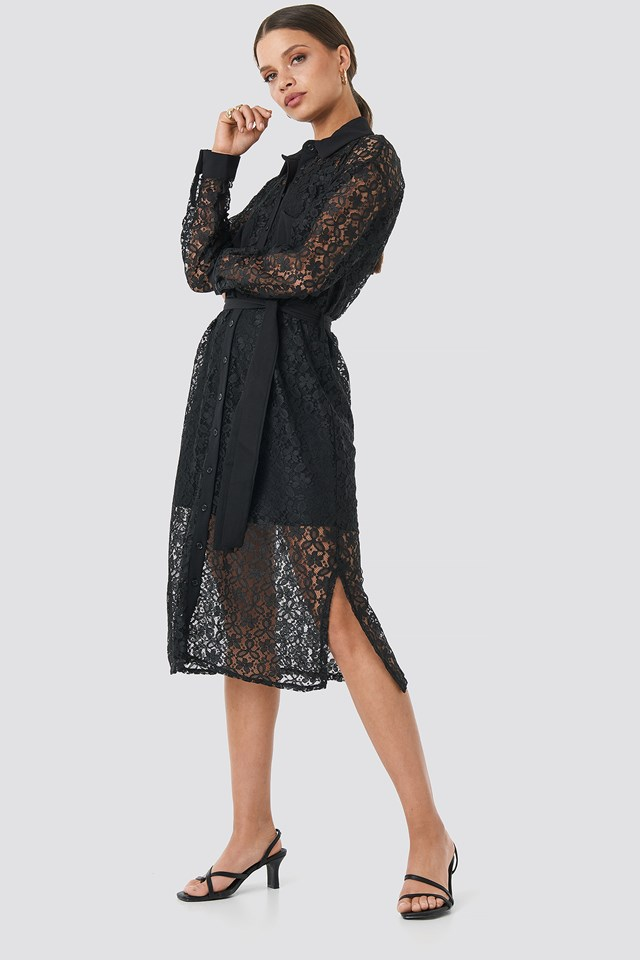 Milla Lace Midi Dress NA-KD.COM