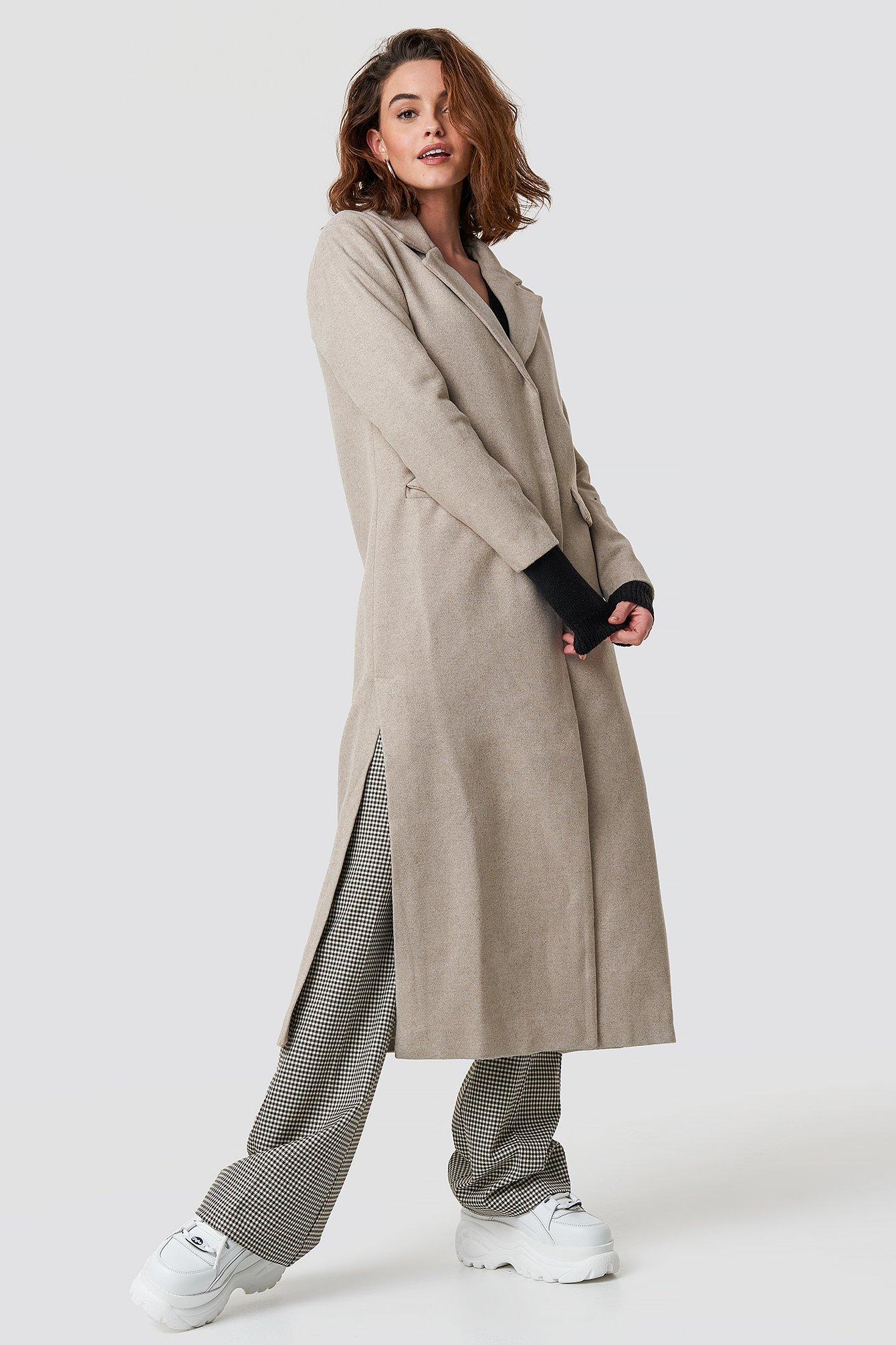 TRENDYOL Milla Long Coat - Beige