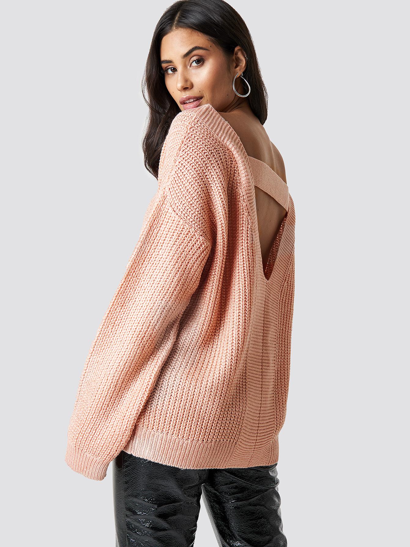 trendyol -  Milla Low-Cut Back Pullover - Pink