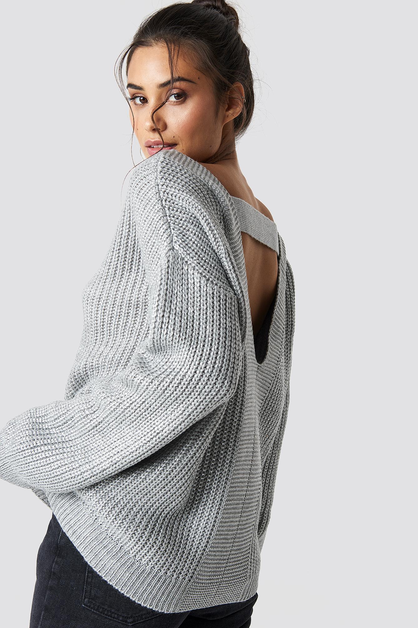 trendyol -  Milla Low-Cut Back Pullover - Grey