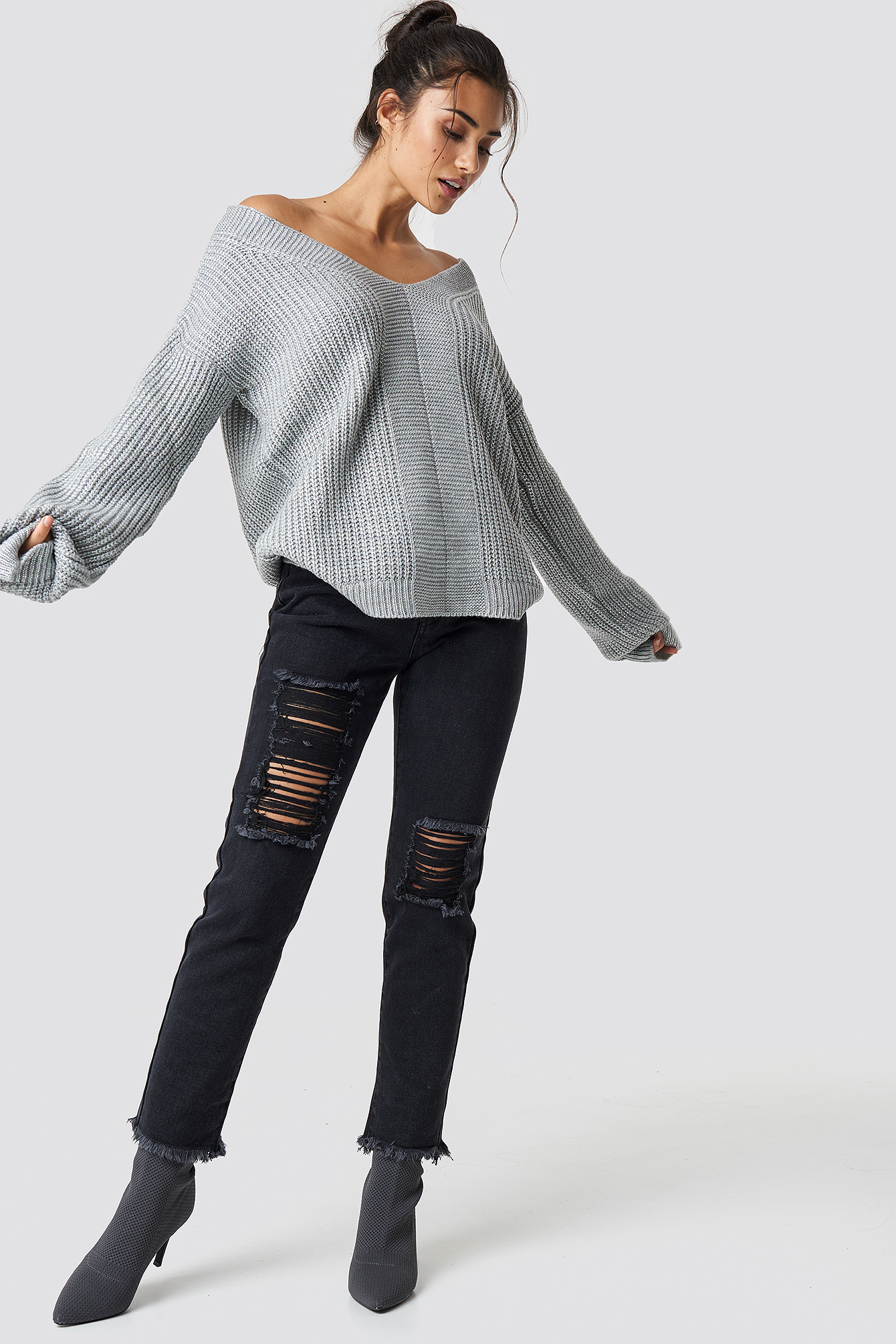Milla Low-Cut Back Pullover NA-KD.COM