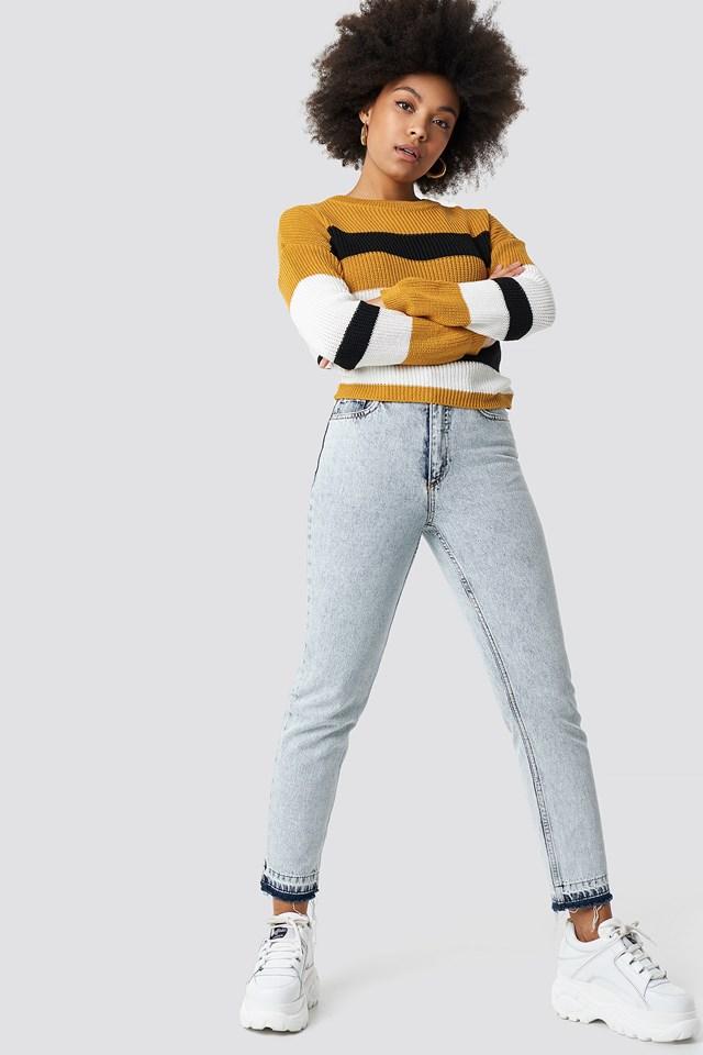 Milla Mustard Striped Sweater Mustard