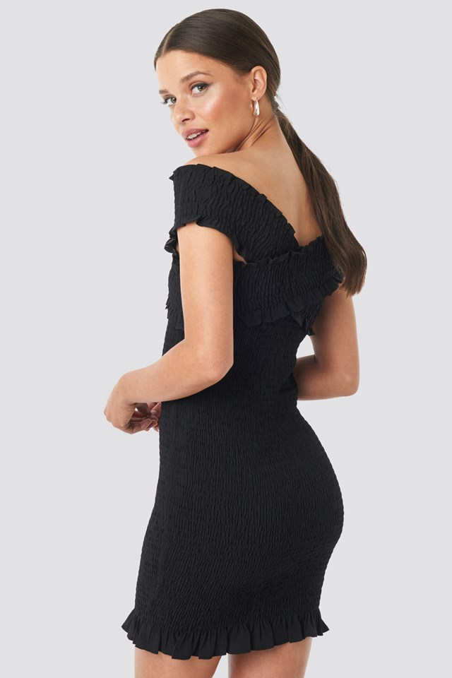 Milla Offshoulder Mini Dress Black