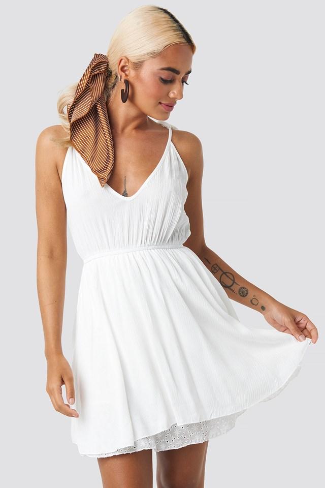 Milla Short Dress Ecru