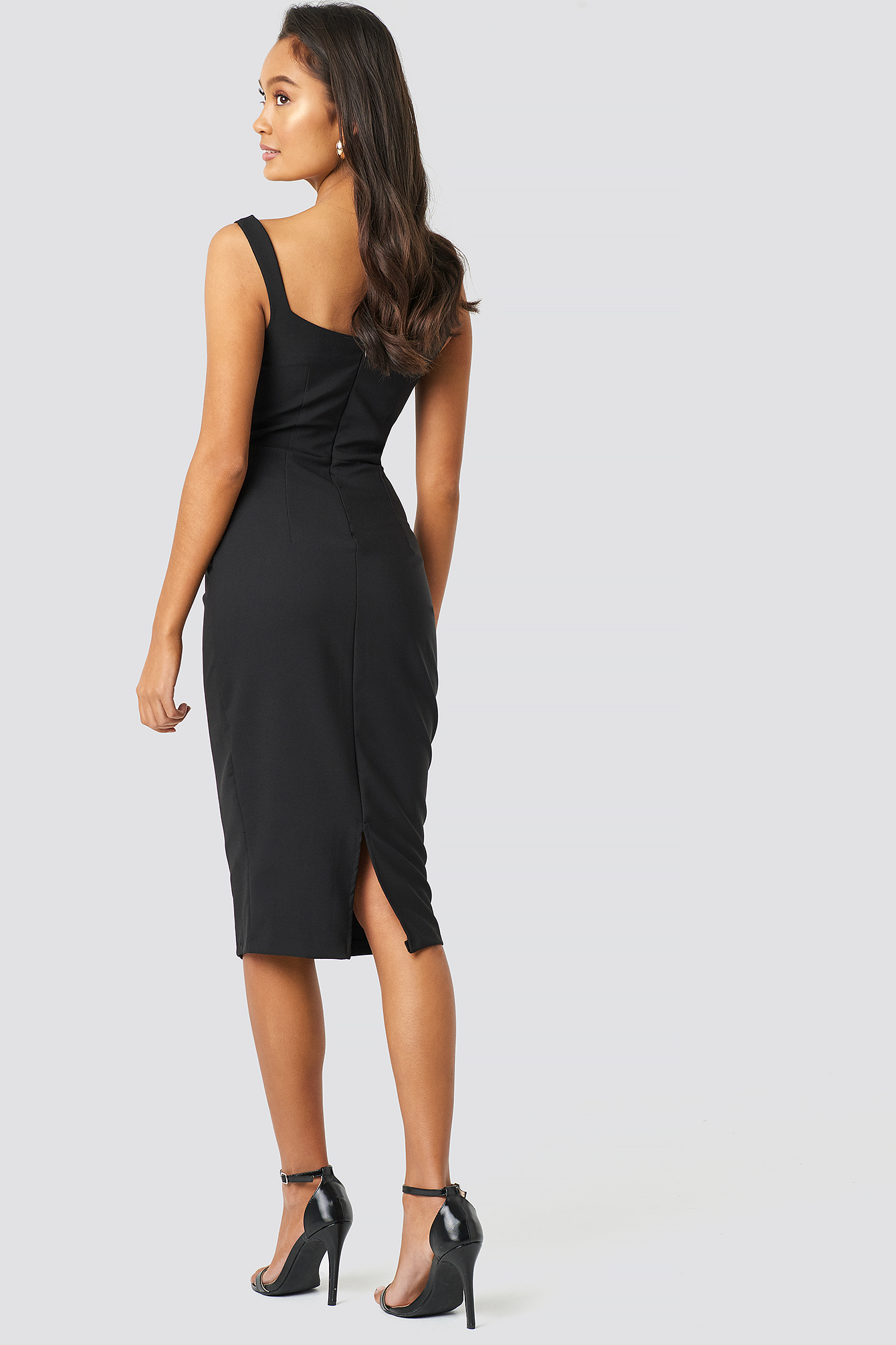 Milla Shoulder Straps Midi Dress NA-KD.COM