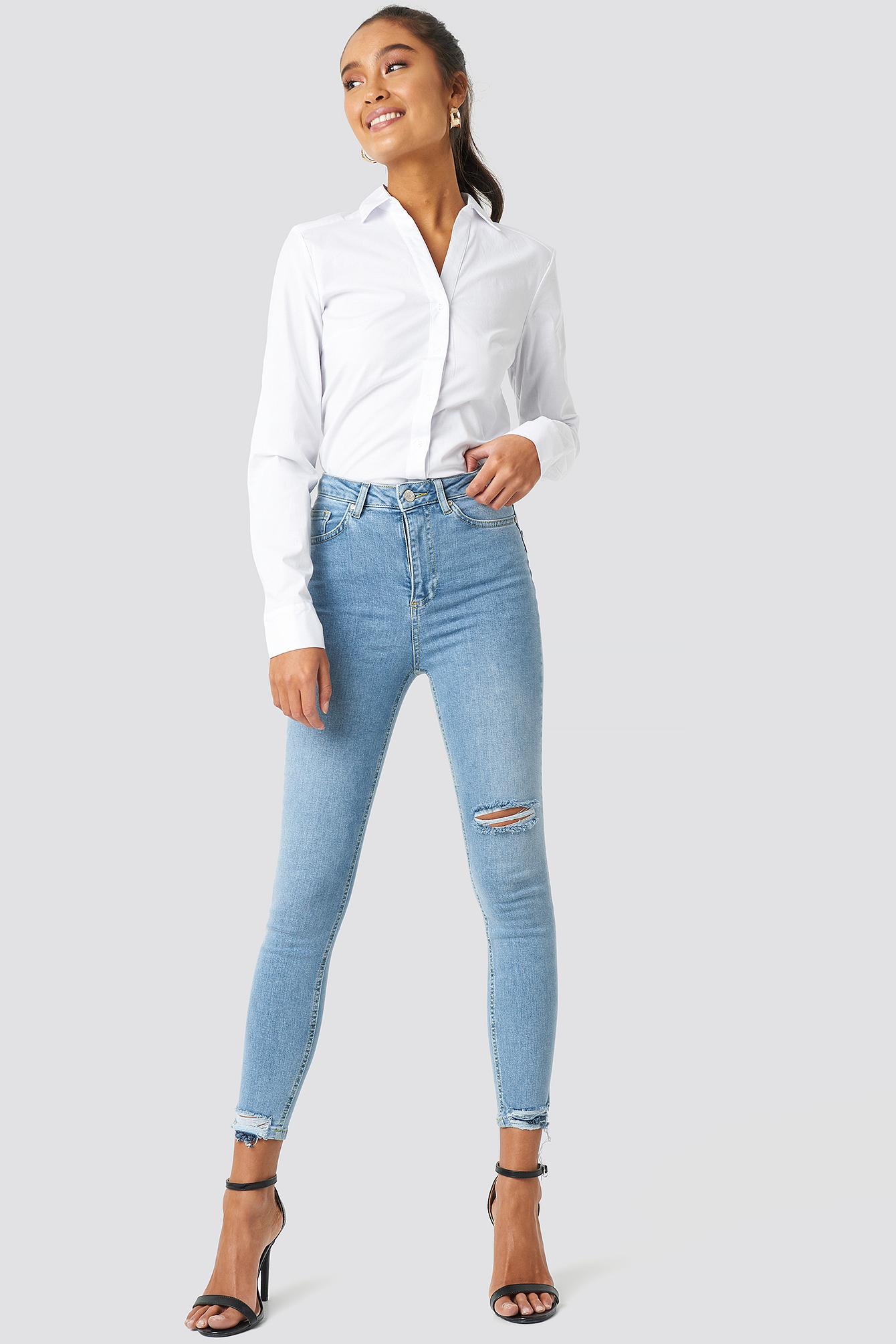 Milla Skinny Cropped Jeans NA-KD.COM
