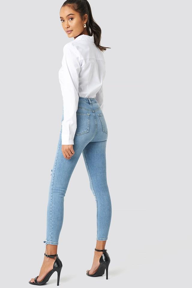 Milla Skinny Cropped Jeans Blue