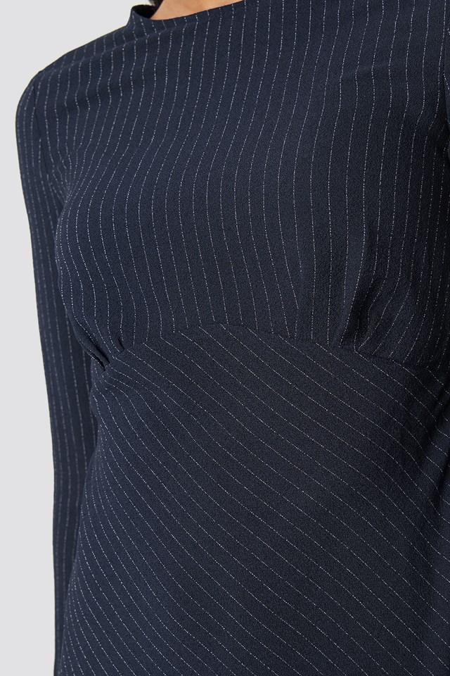 Milla Striped Dress Navy
