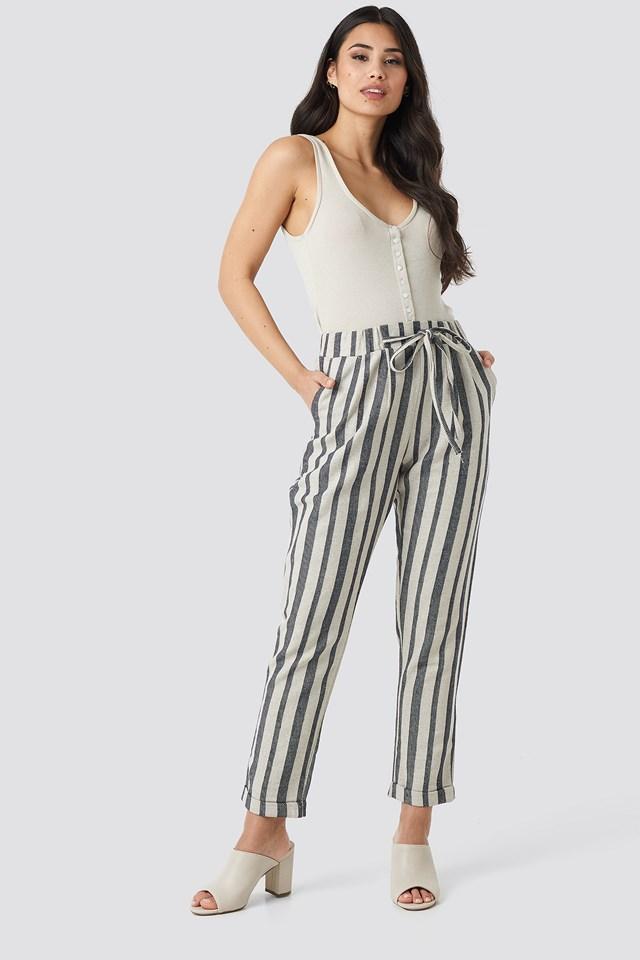 Milla Striped Pants Indigo