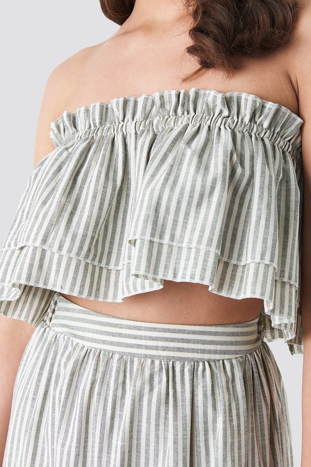 Milla Striped Set Gray
