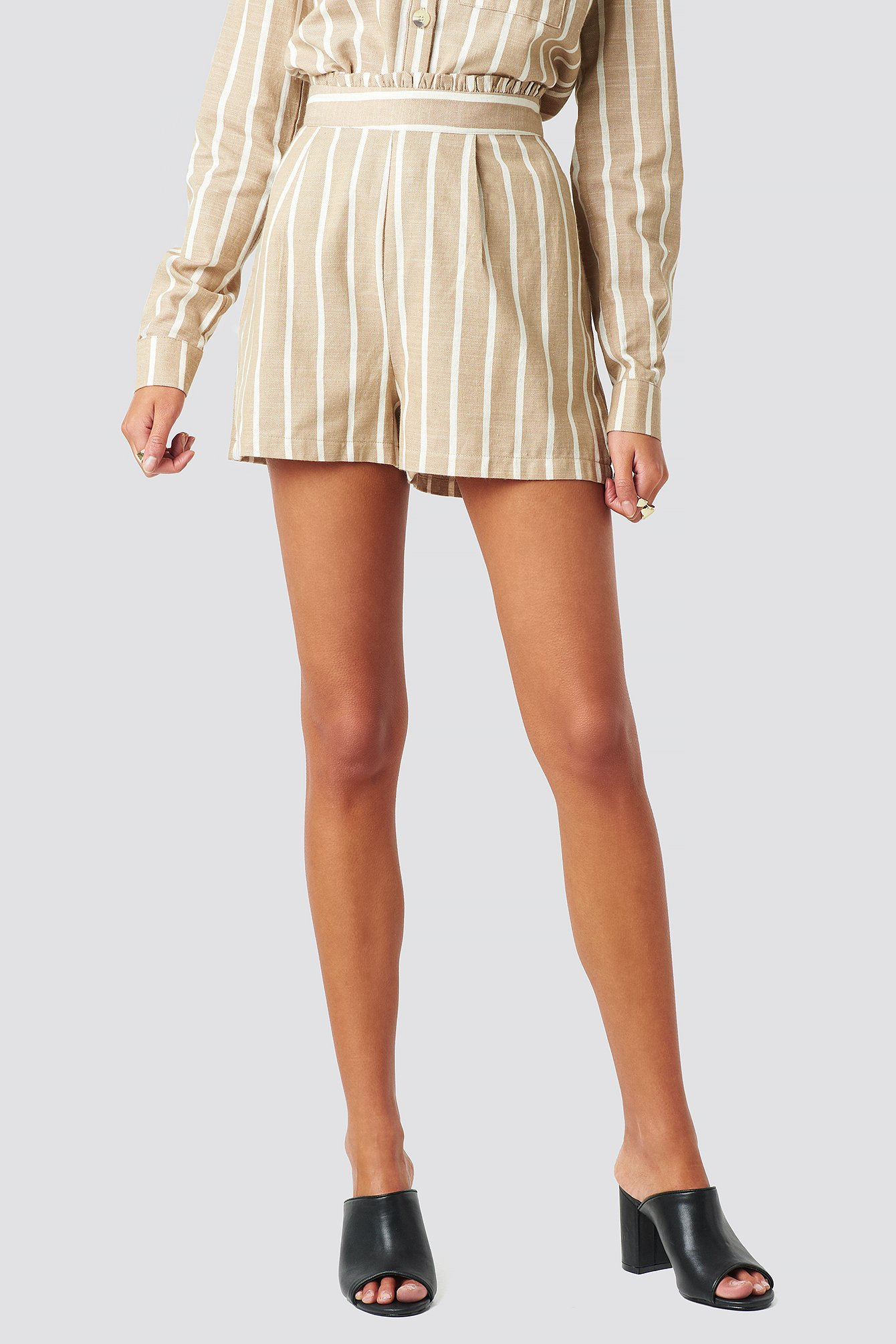 Milla Striped Shorts NA-KD.COM