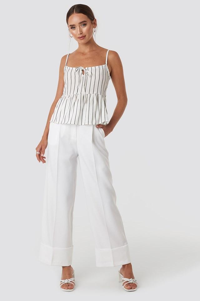 Milla Striped Singlet White