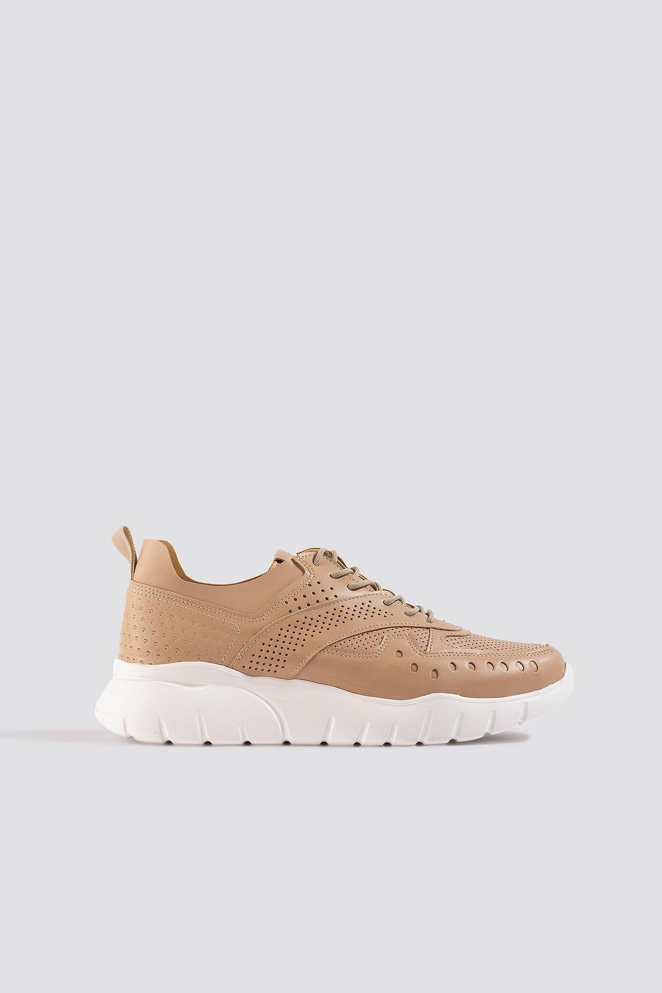 Trendyol Milla Taks Sneakers - Beige