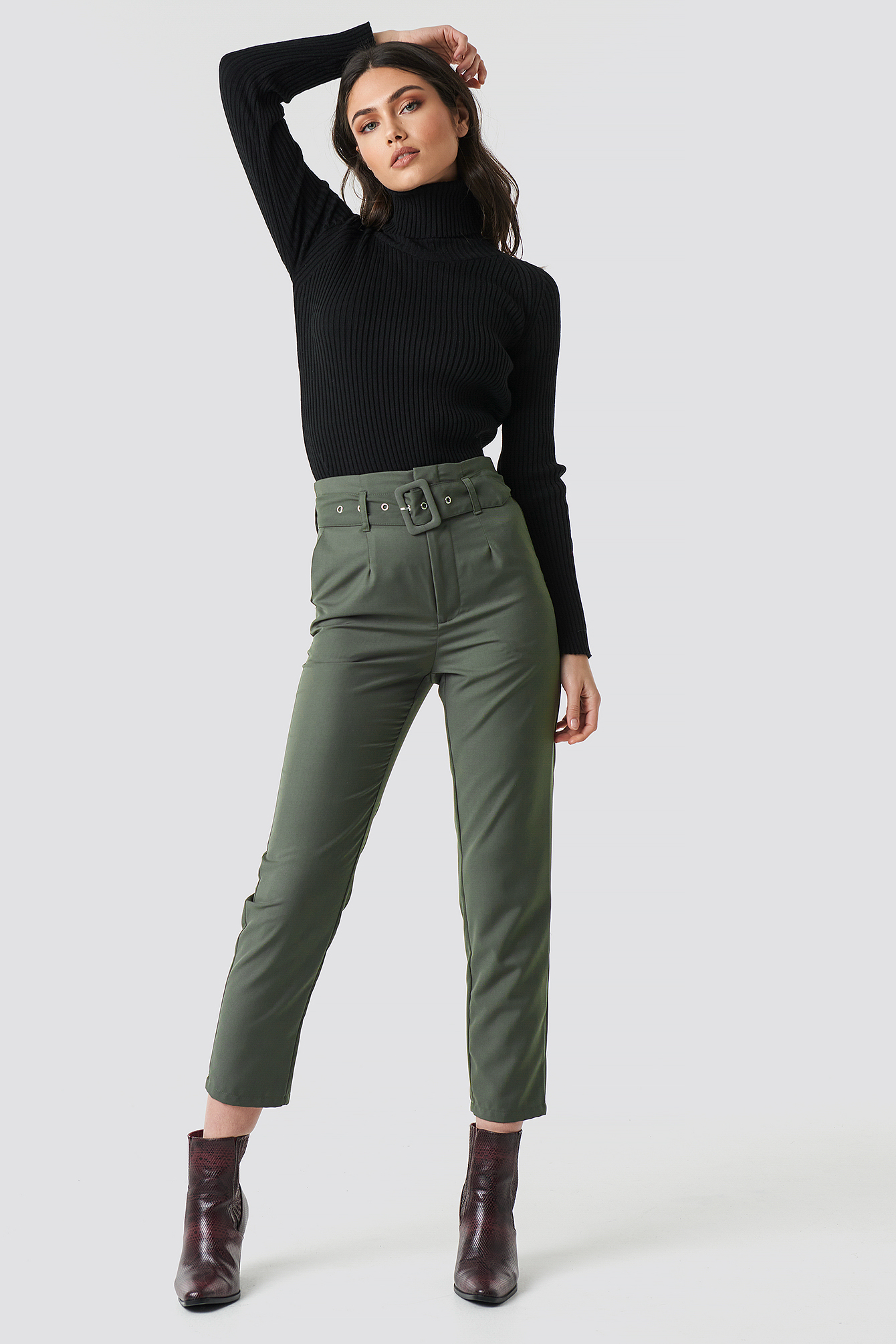 Milla Turtleneck Knitted Sweater NA-KD.COM