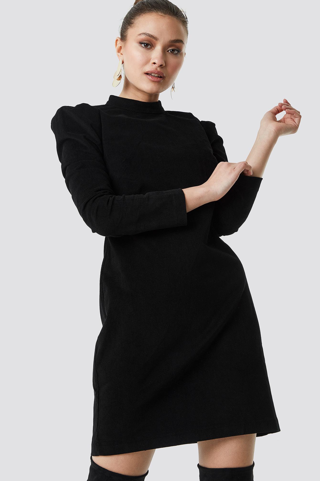Milla Velvet Mini Dress Black by Trendyol