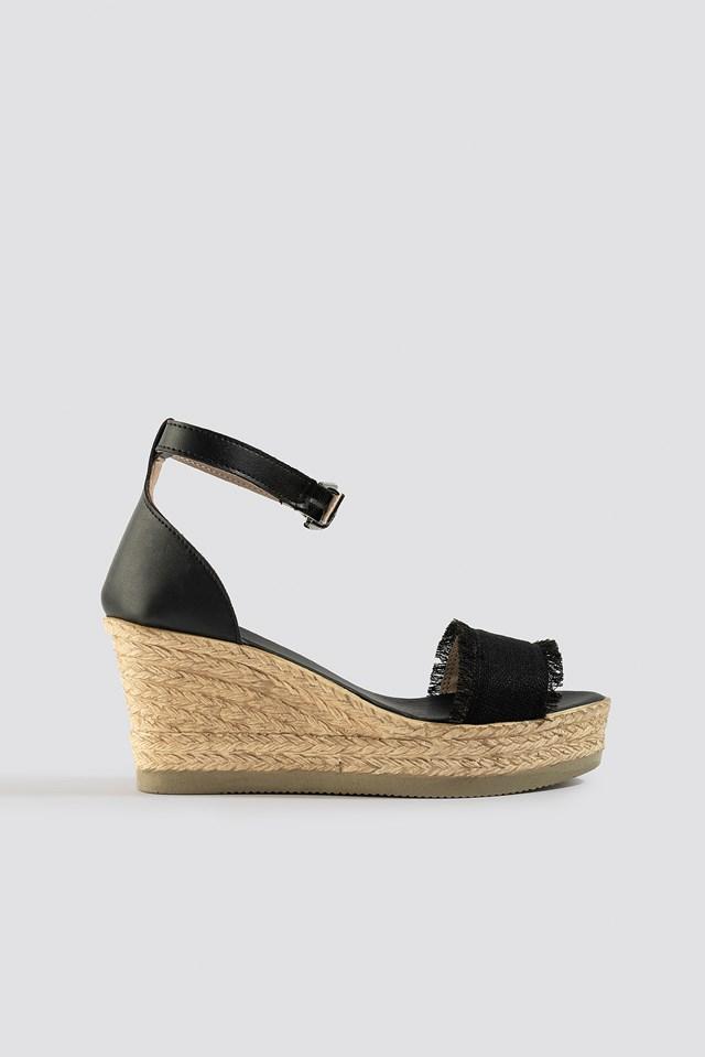 Milla Wedge Heeled Shoes Black