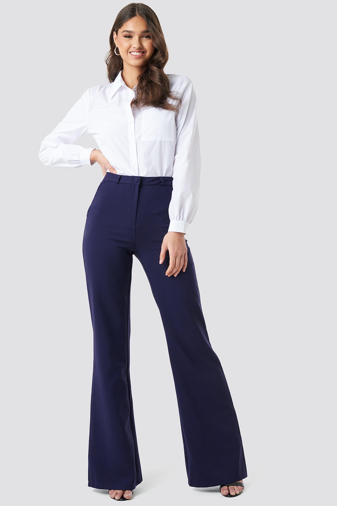 trendyol -  Milla Wide Pants - Blue