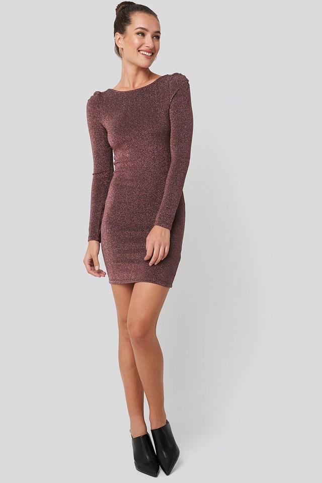 Mini Backless Dress Fuchsia