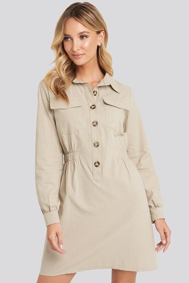 Mini Buttoned Shirt Dress Trendyol