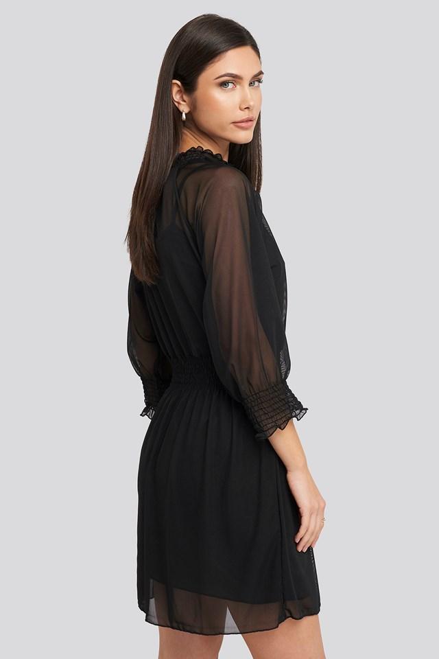 Mini Mesh Dress Black
