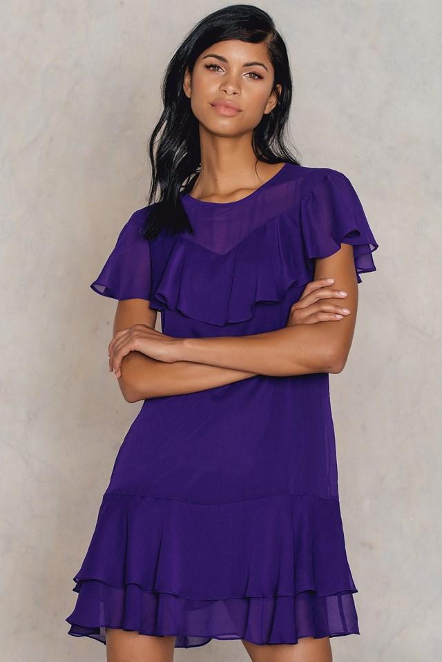 Mor Frill Dress Purple