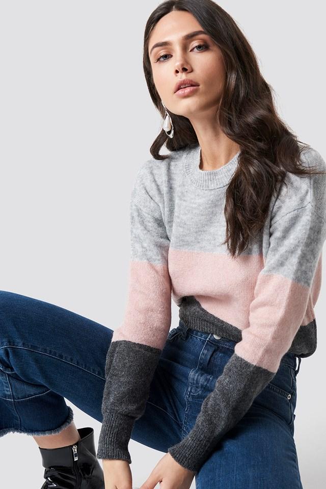 Multi Block Knitted Jumper NA-KD.COM
