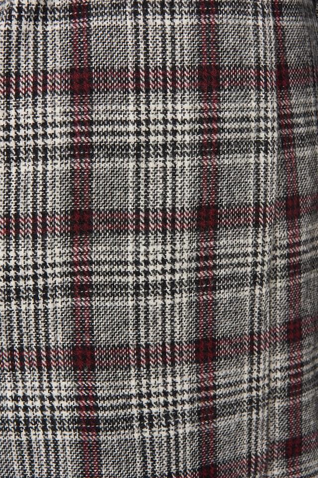 Multi Color Plaid Long Coat Multicolor