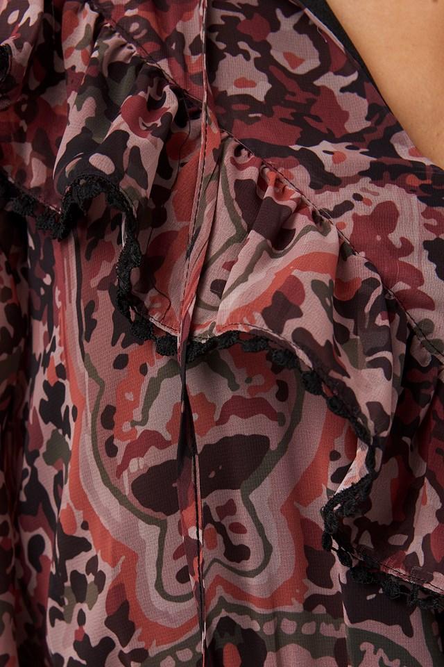 Multi Colored Frilly Mini Dress Multicolor