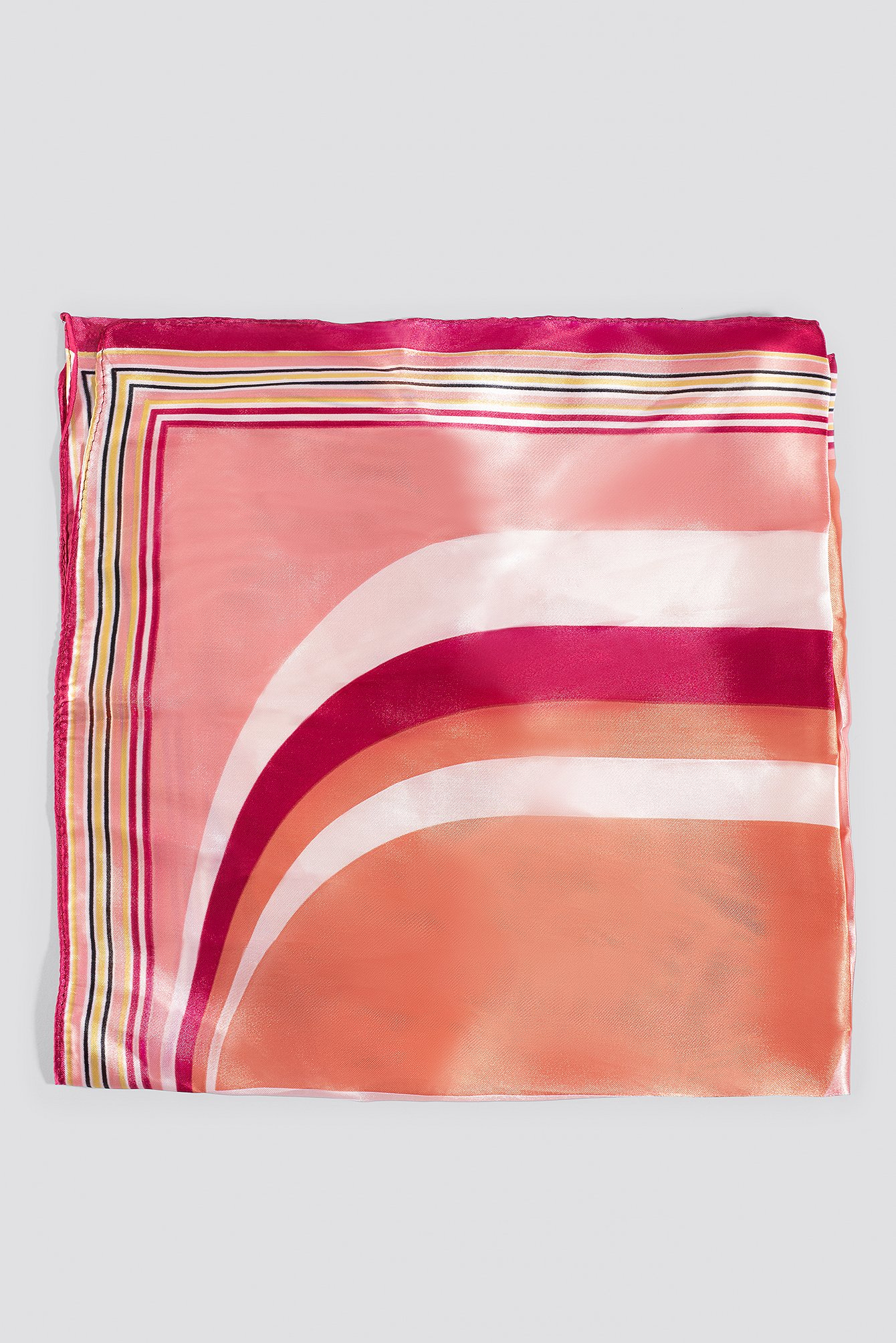Pink Multi Printed Shiny Scarf
