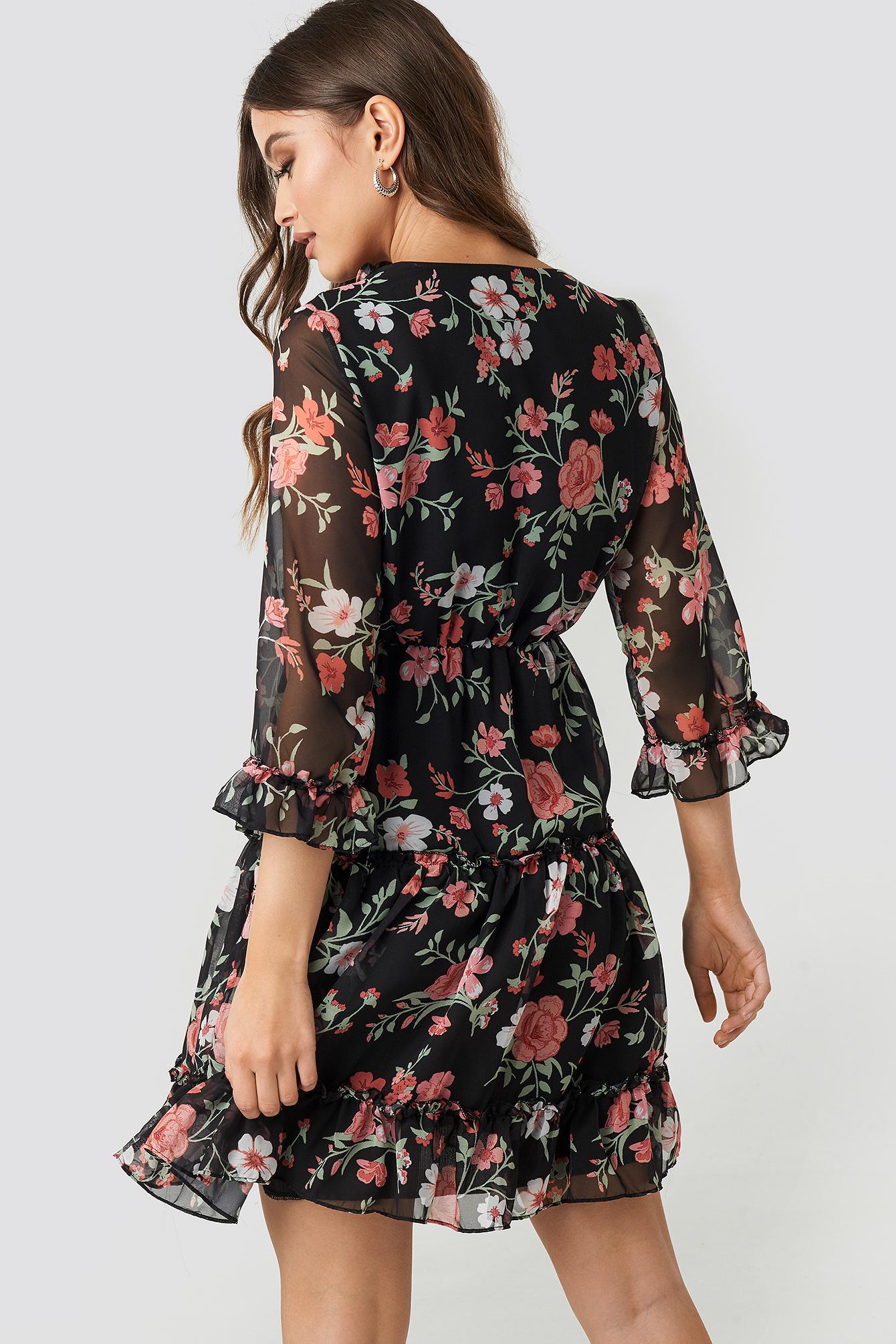 Multicolor Patterned Dress NA-KD.COM