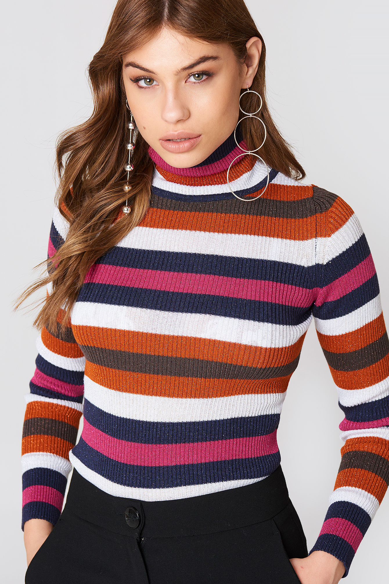 Multicolor Stripe Sweater NA-KD.COM