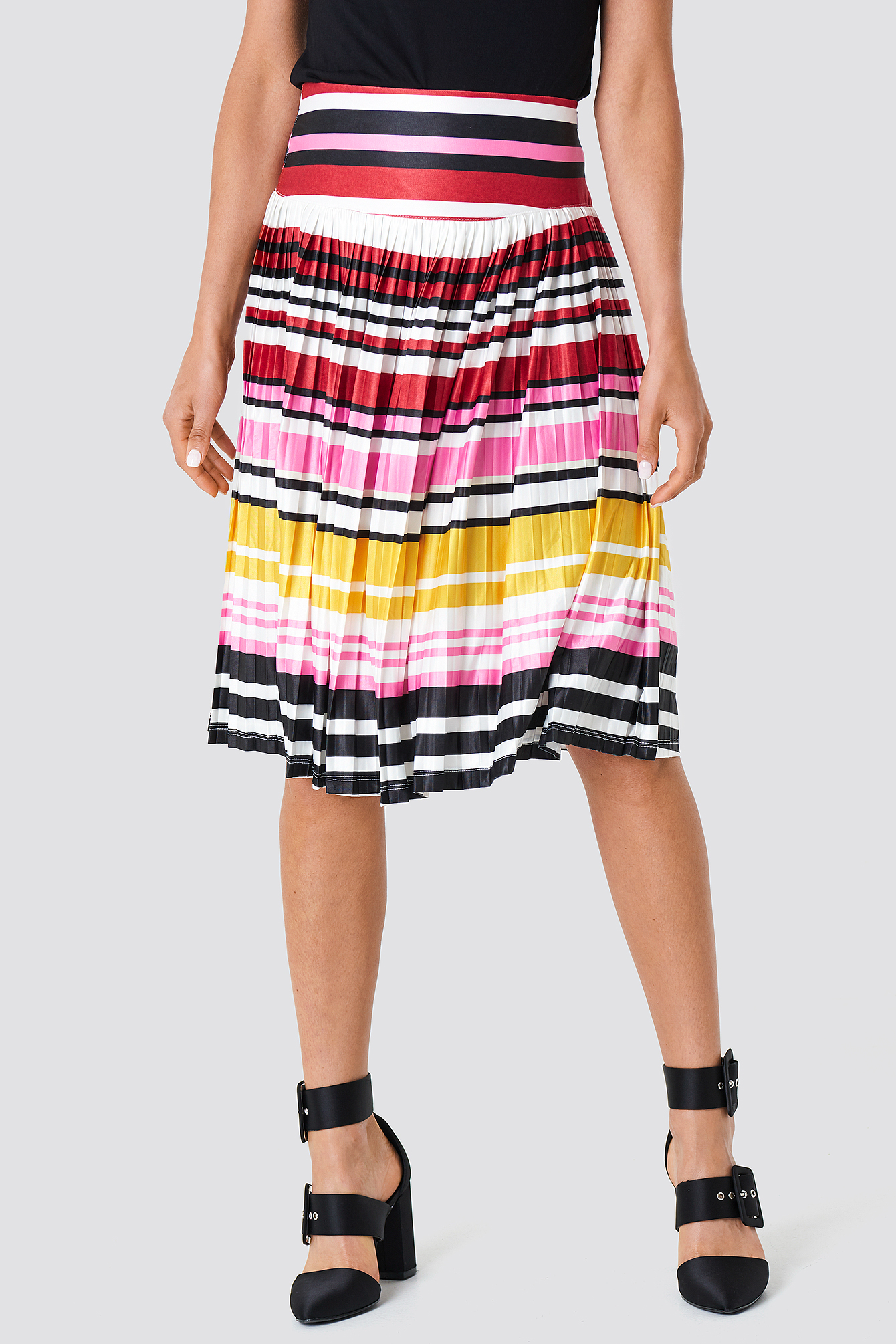 Multicolored Strapless Knitted Skirt NA-KD.COM
