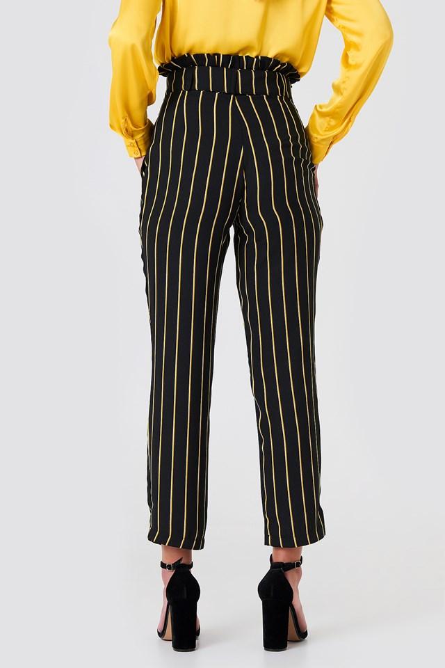 Multistripe Paperbag Pants Navy
