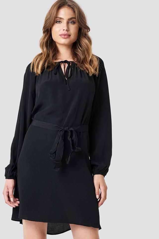 Neck Binding Detailed Dress Trendyol