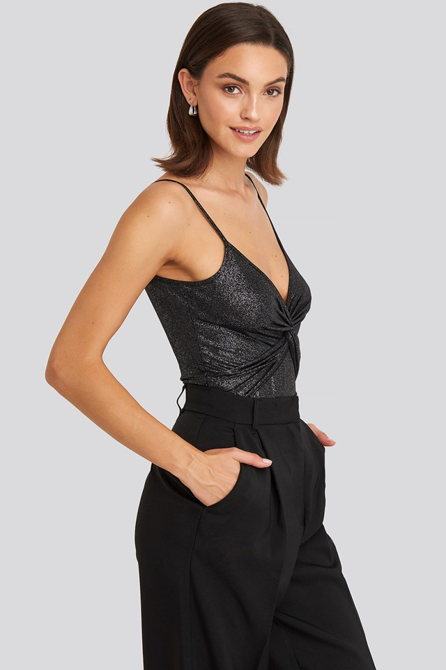Shimmer Neck Detail Body Anthracite