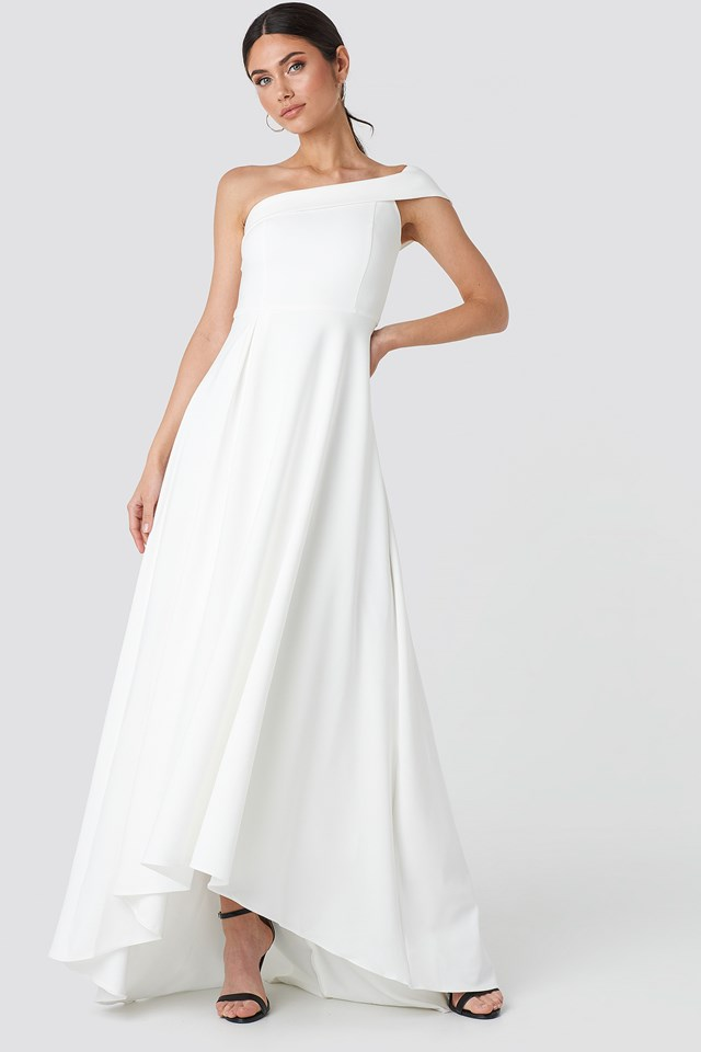 Neckline Detailed Evening Dress NA-KD.COM