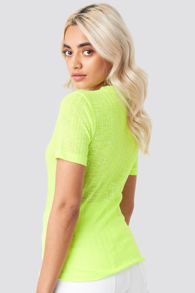 Neon Fitted T-shirt NA-KD.COM