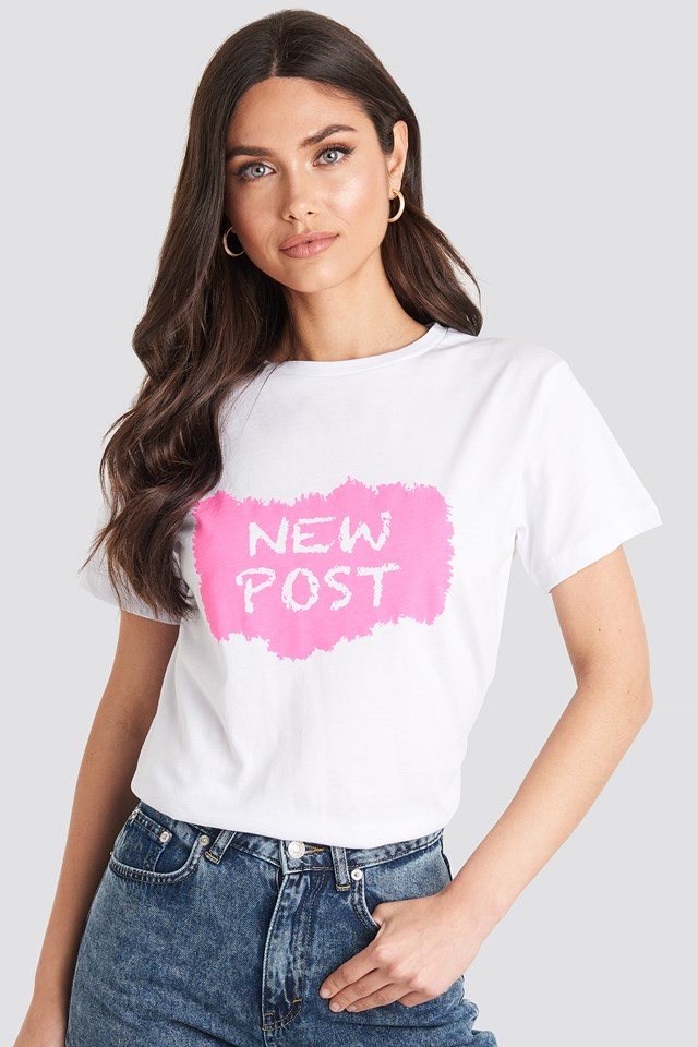 New Post Tee Trendyol