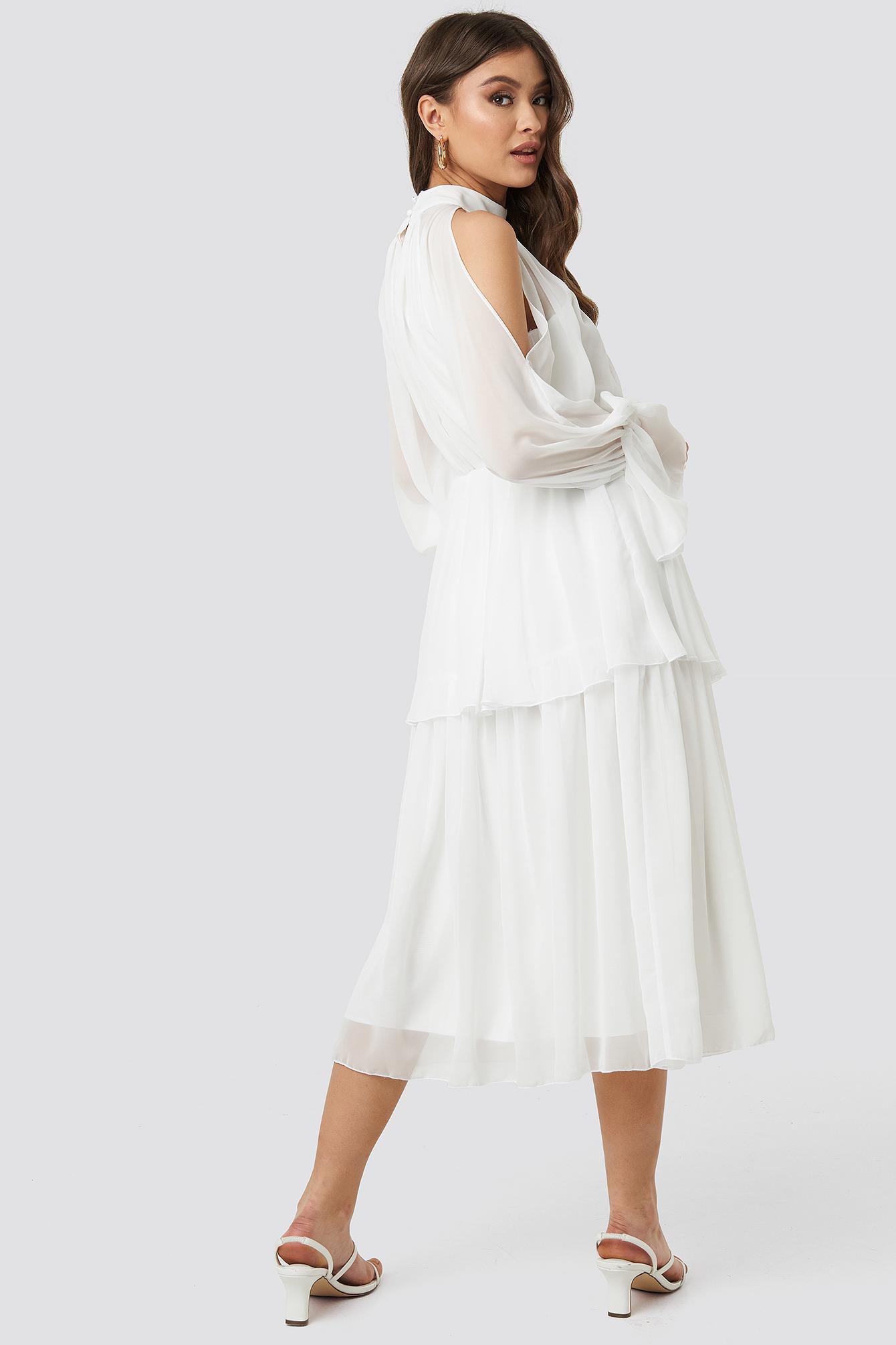 No Shoulder Long Sleeve Dress NA-KD.COM