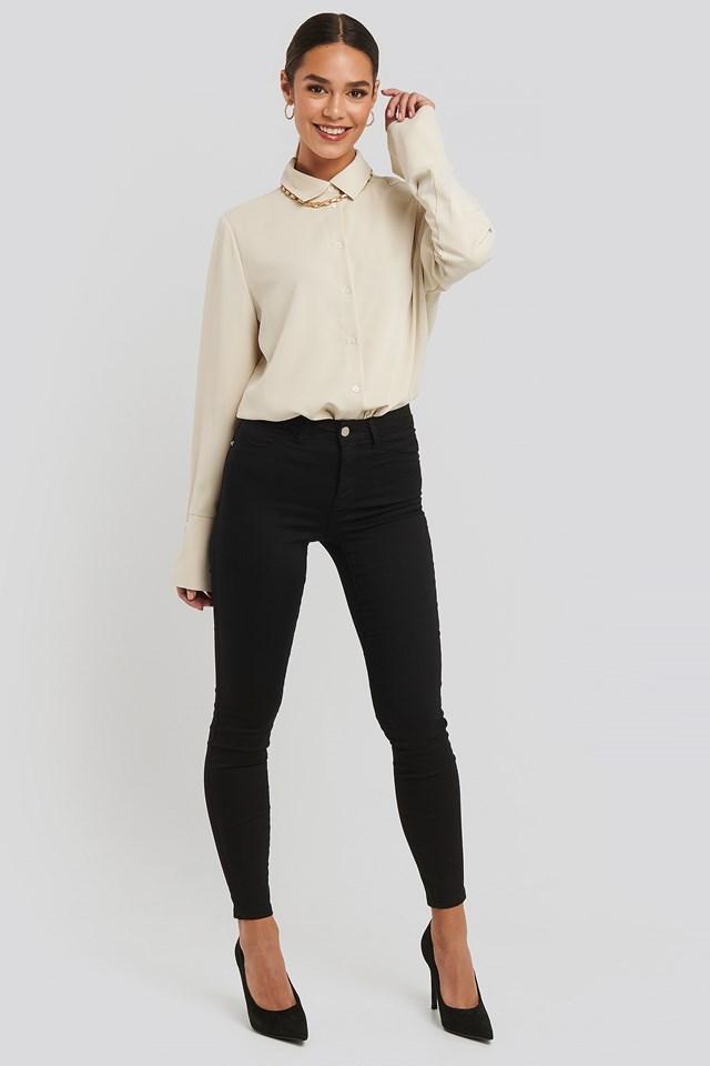 Normal Waist Jegging Jeans Black