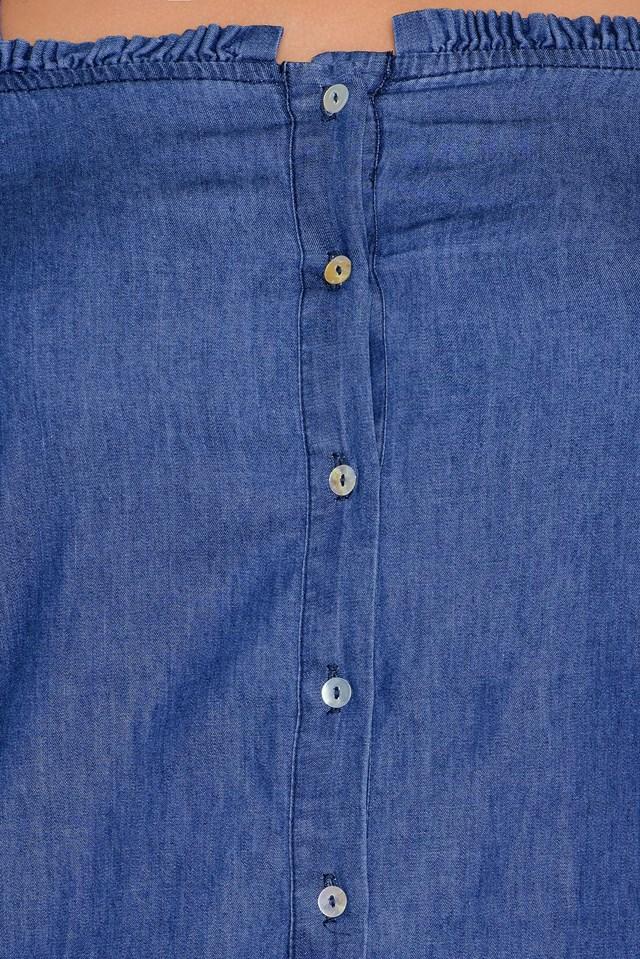 Sukienka z odkrytymi ramionami Mid Blue