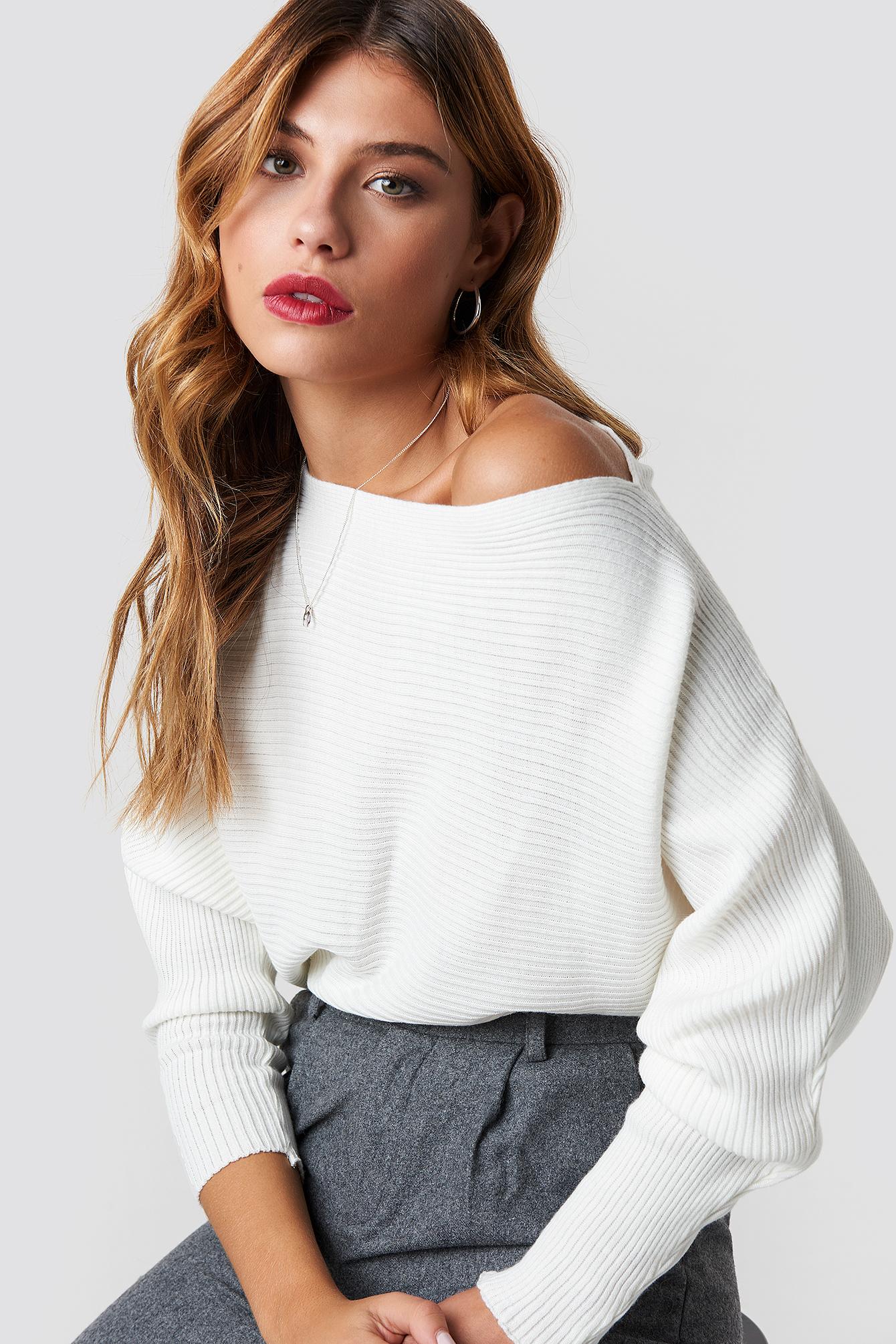 Off Shoulder Knitted Jumper
