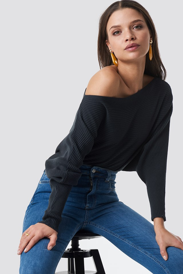 Off Shoulder Knitted Jumper Trendyol