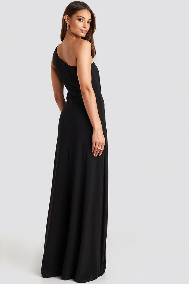 One Shoulder Evening Dress Black