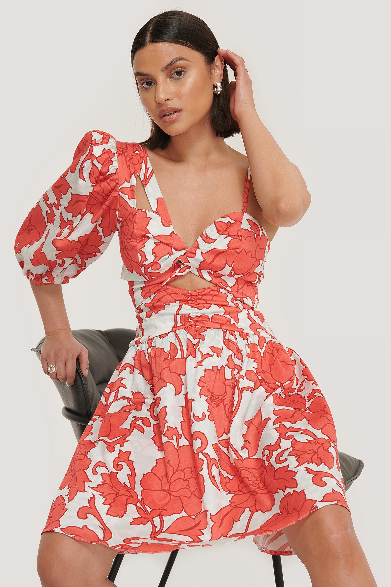 trendyol -  Einseitig Schulterfreies Minikleid - Red